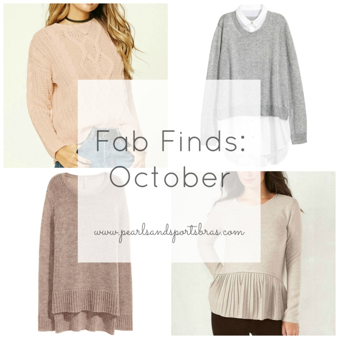 Fab Finds October |www.pearlsandsportsbras.com|