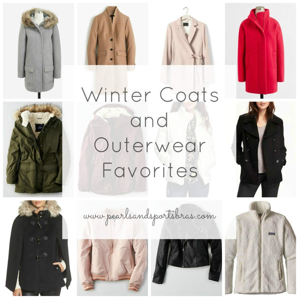 Winter Coats and Outerwear Favorites 2016 |www.pearlsandsportsbras.com|