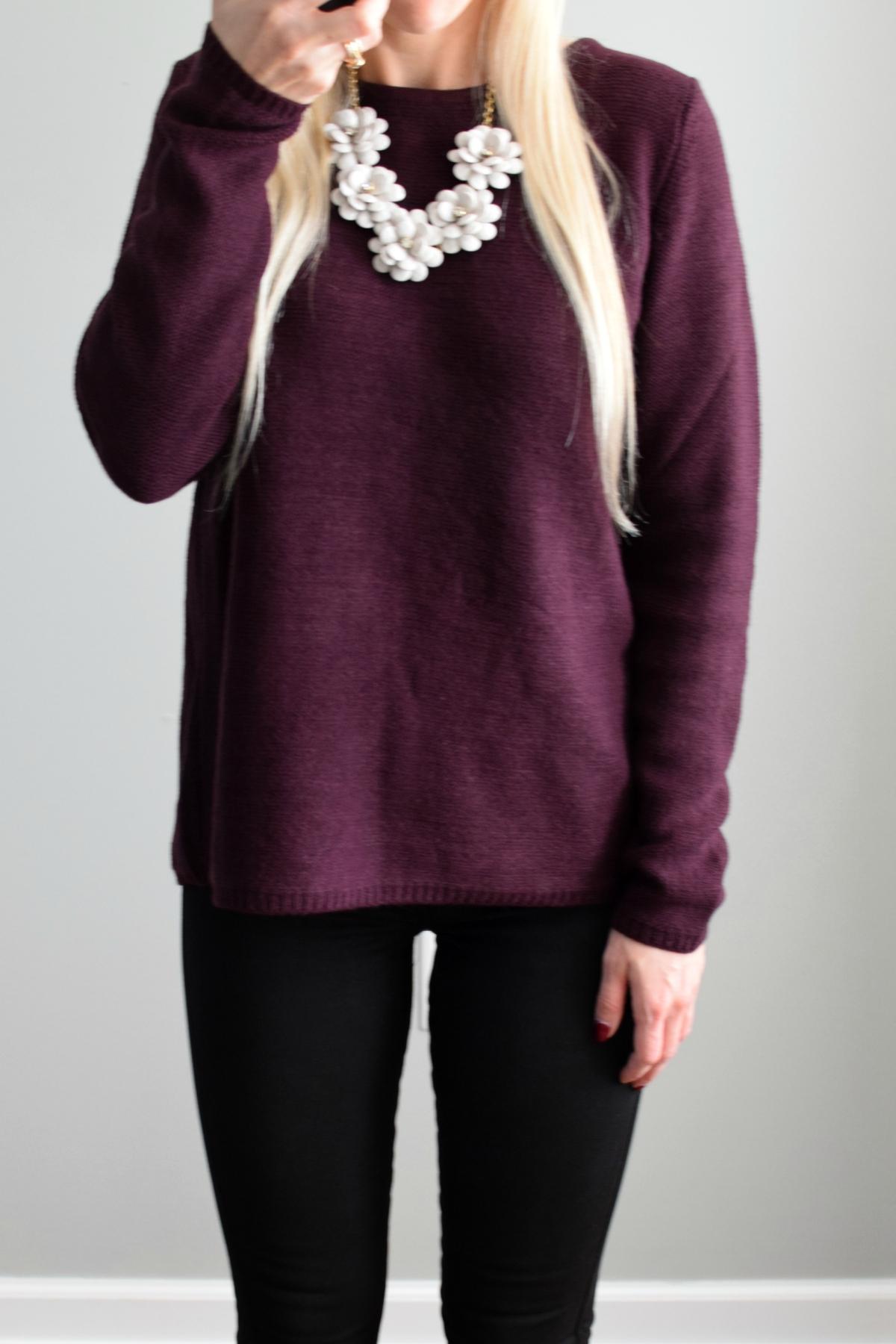 November 2016 Stitch Fix Review: Market & Spruce Brookline Mix Material Sweater |www.pearlsandsportsbras.com|