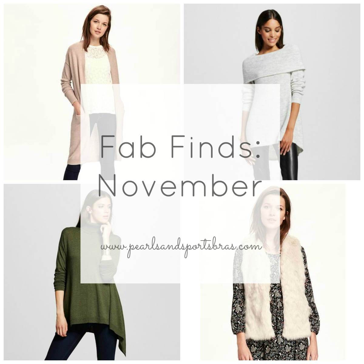 Fab Finds November  www.pearlsandsportsbras.com 