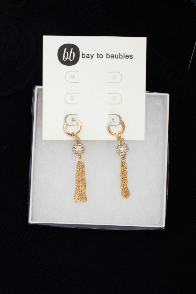 December 2016 Stitch Fix Review: Bay to Baubles Aries Fireball Fringe Drop Earrings |www.pearlsandsportsbras.com|