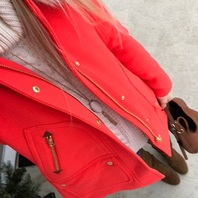 bold red winter parka  www.pearlsandsportsbras.com 