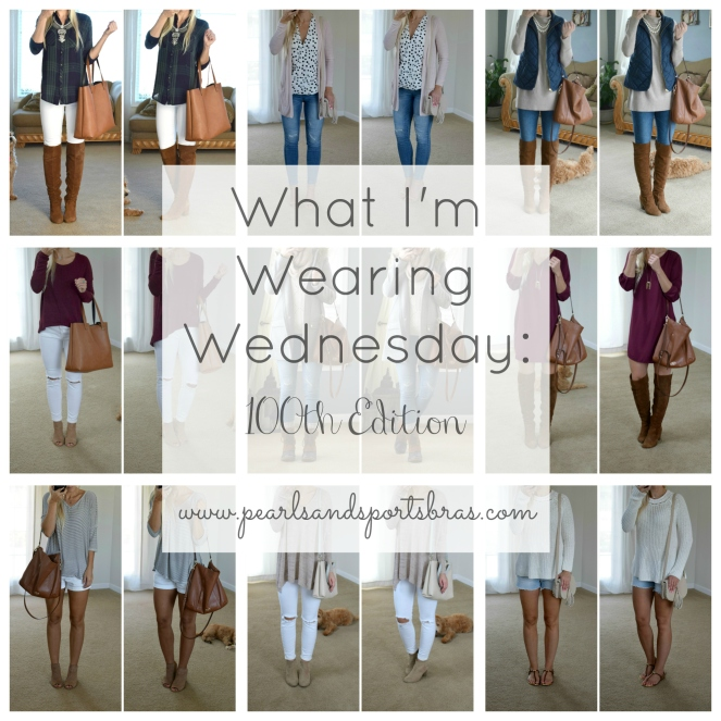 What I'm Wearing Wednesday: 100th Edition |www.pearlsandsportsbras.com|
