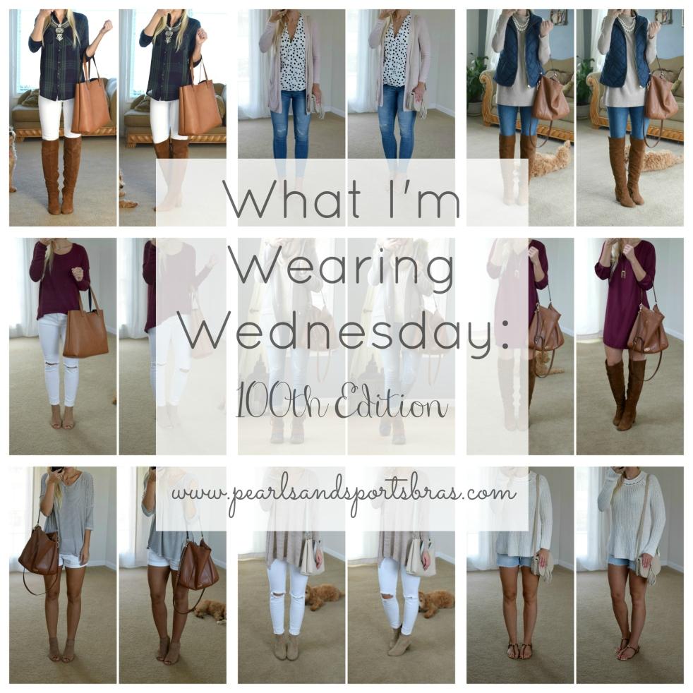 What I'm Wearing Wednesday: 100th Edition  www.pearlsandsportsbras.com 