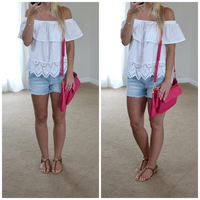off the shoulder summer wear |www.pearlsandsportsbras.com|