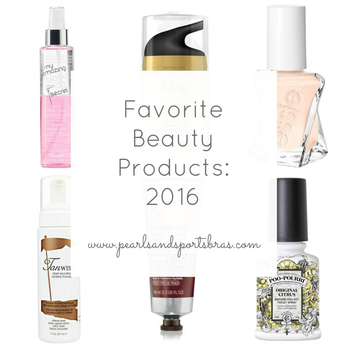 Favorite Beauty Products of 2016 |www.pearlsandsportsbras.com|