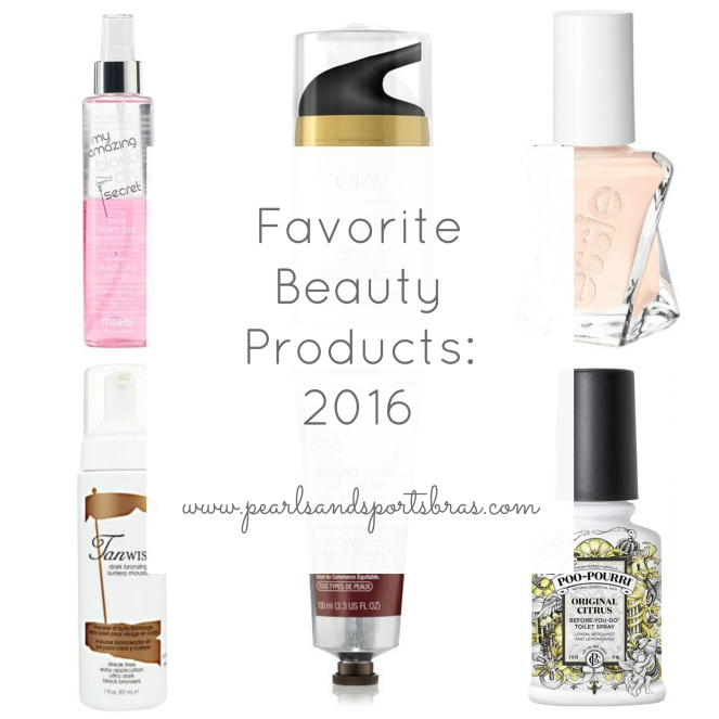 Favorite Beauty Products of 2016 |www.pearlsandsportsbras.com|
