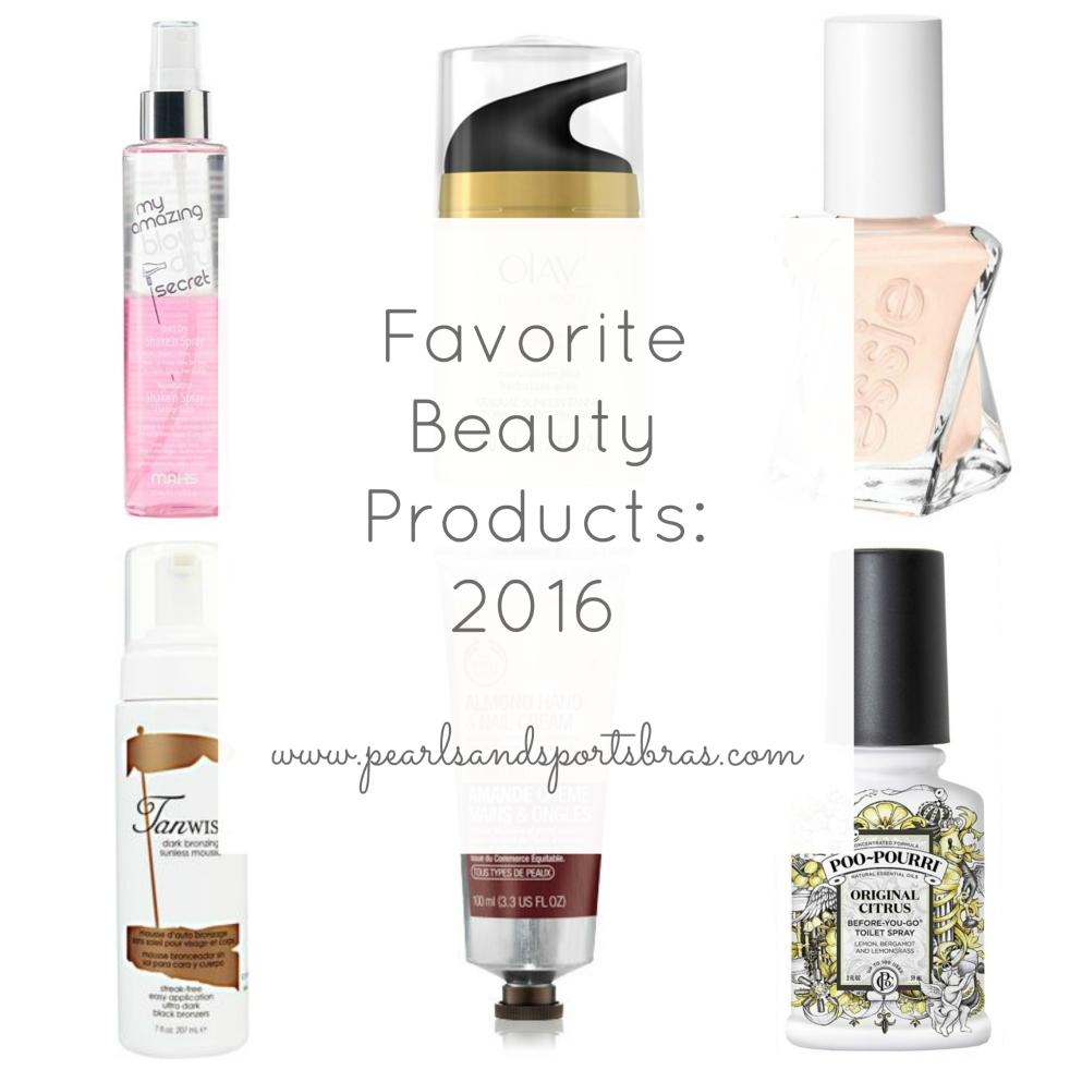 Favorite Beauty Products of 2016  www.pearlsandsportsbras.com 