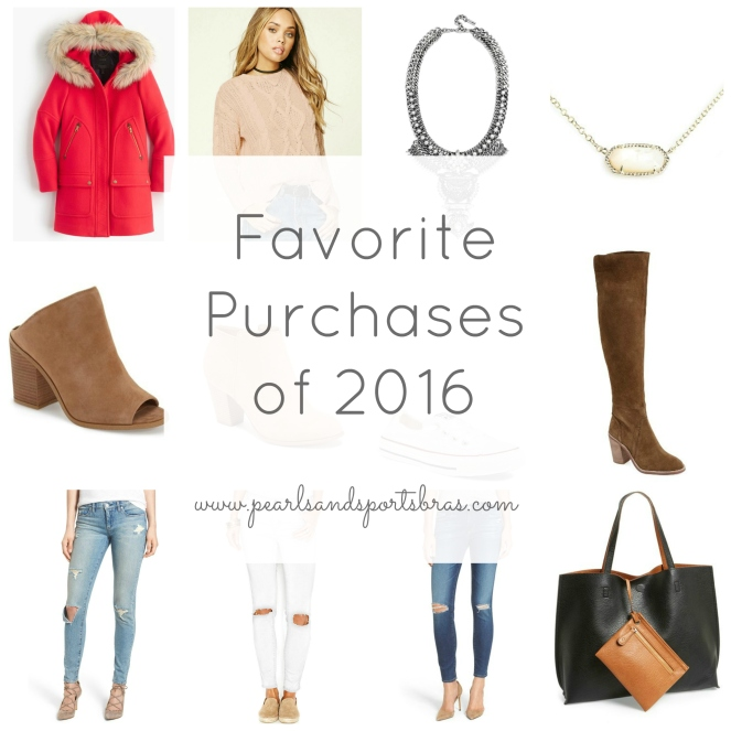 Favorite Purchases of 2016 |www.pearlsandsportsbras.com|