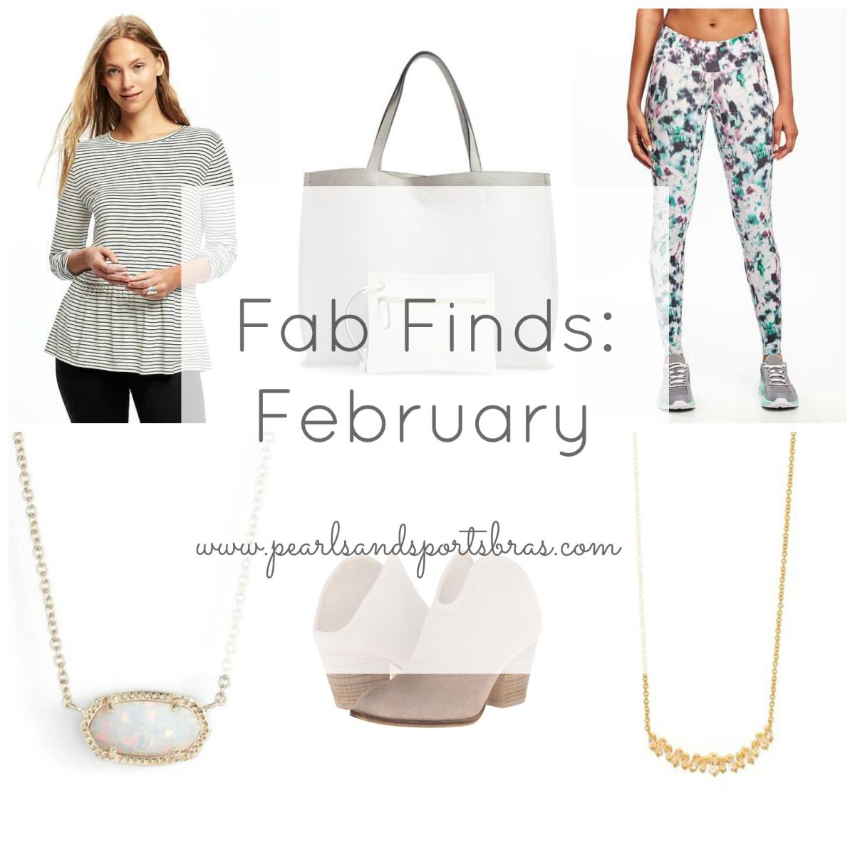Fab Finds February |www.pearlsandsportsbras.com|