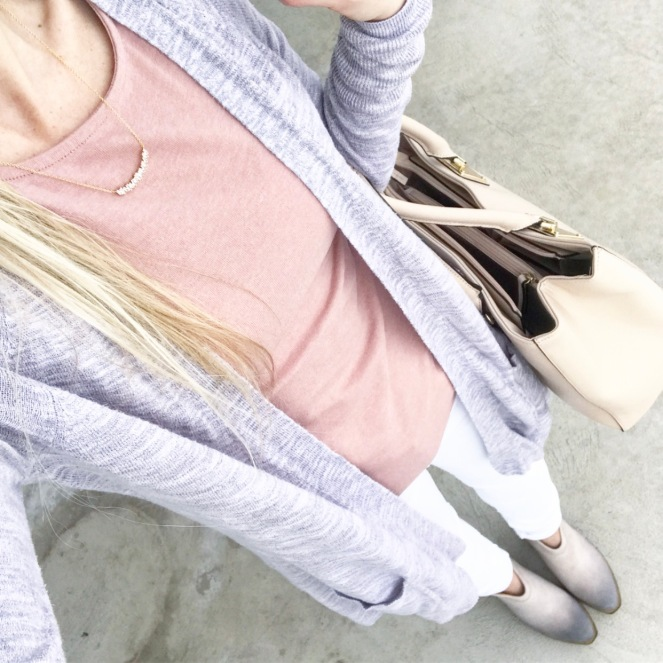 Blush, nude, and grey are winter and spring staples |www.pearlsandsportsbras.com|