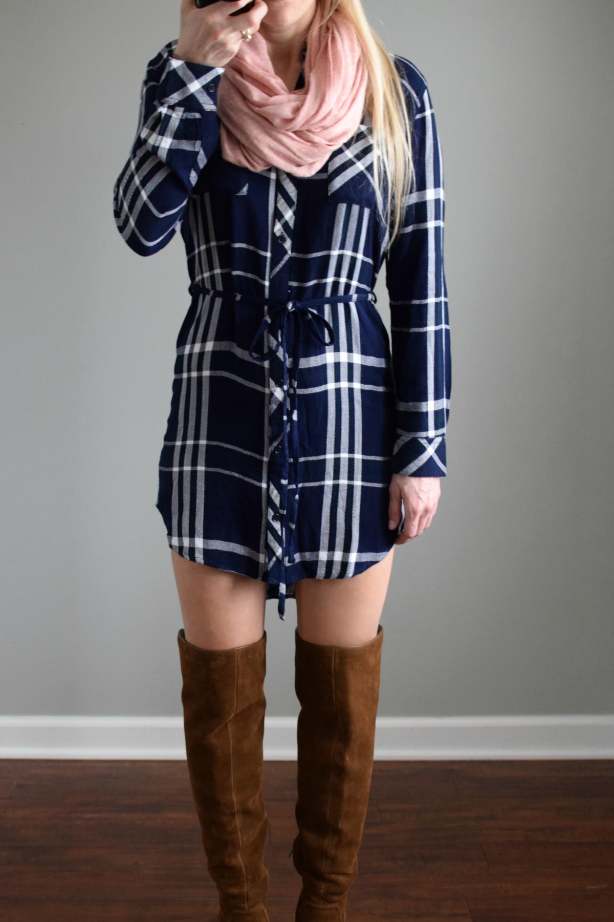 Stitch Fix Review February 2017: Rails Shar Button Down Dress |www.pearlsandsportsbras.com|