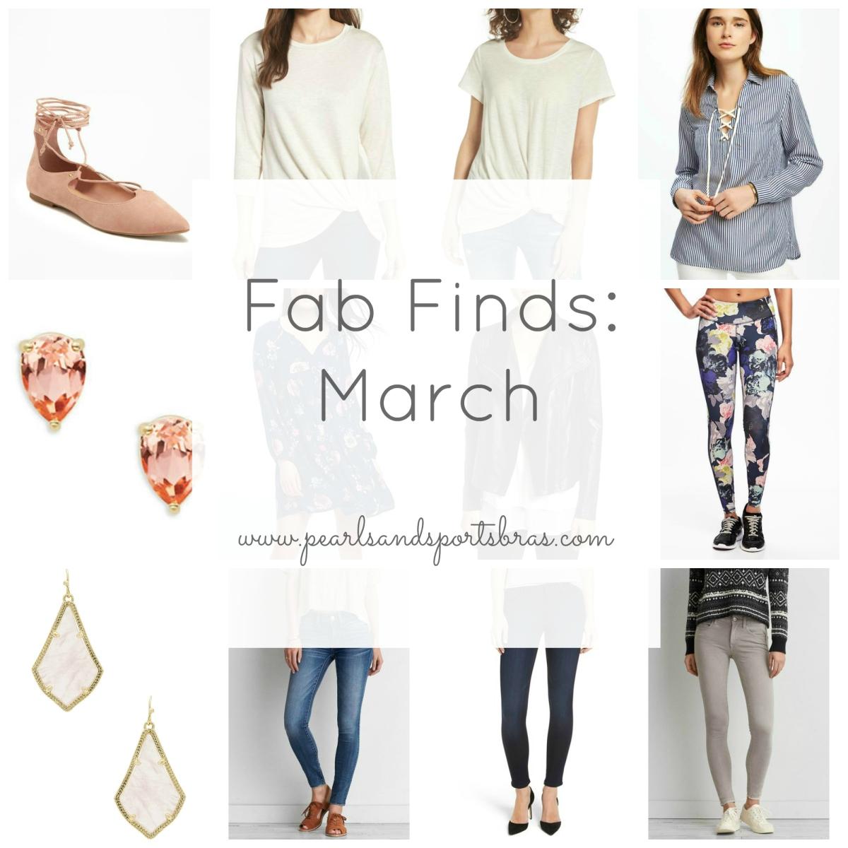 Fab Finds March |www.pearlsandsportsbras.com|
