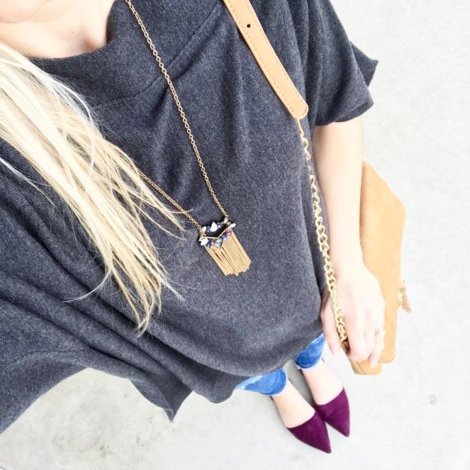 grey and burgundy |www.pearlsandsportsbras.com|