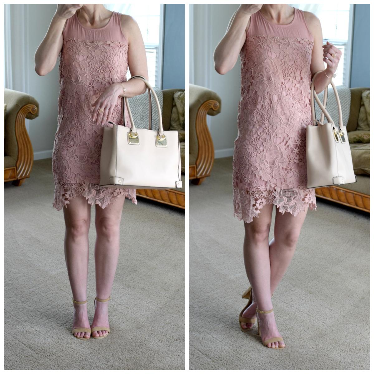 lace overlay dress |www.pearlsandsportsbras.com|