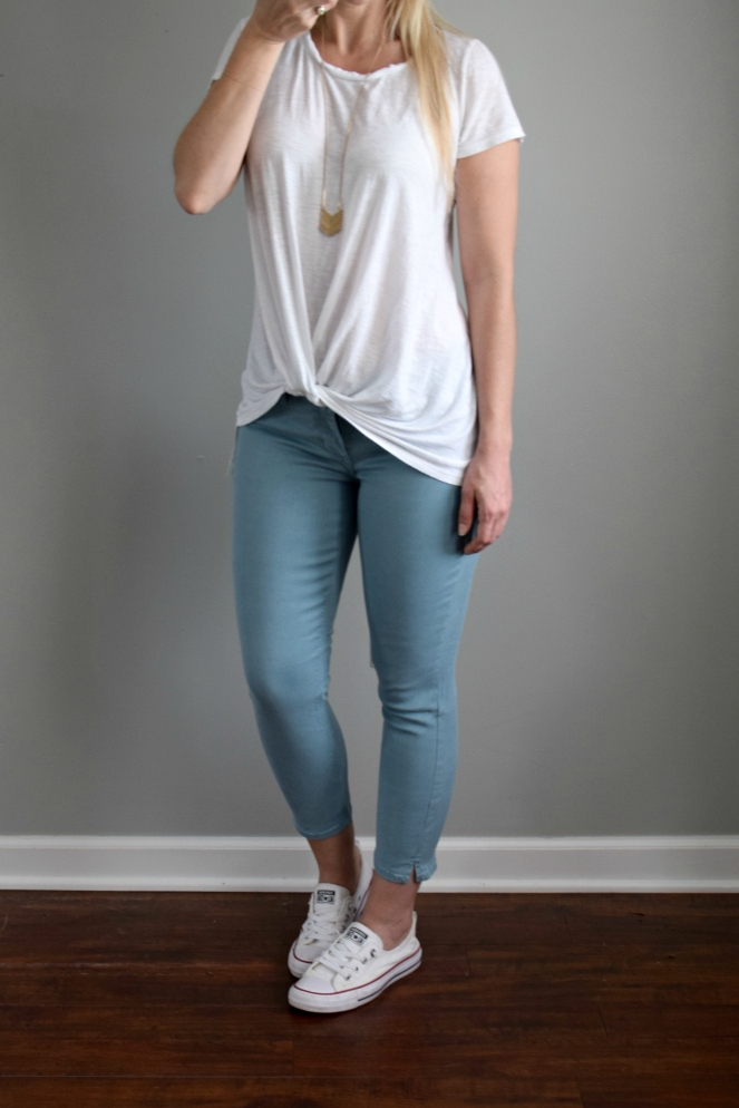 June 2017 Stitch Fix Review: Just Black Ethan Split Hem Skinny Jean |www.pearlsandsportsbras.com|