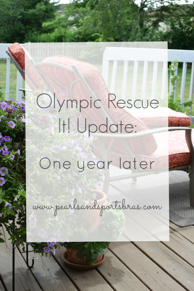 Olympic Rescue It! Update: One year later |www.pearlsandsportsbras.com|