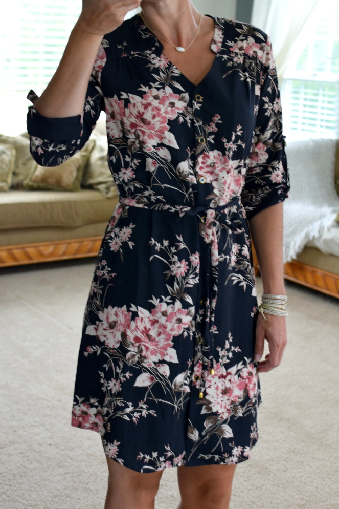 Stitch Fix Review August 2017: 41Hawthorn Cristen Shirt Dress |www.pearlsandsportsbras.com|