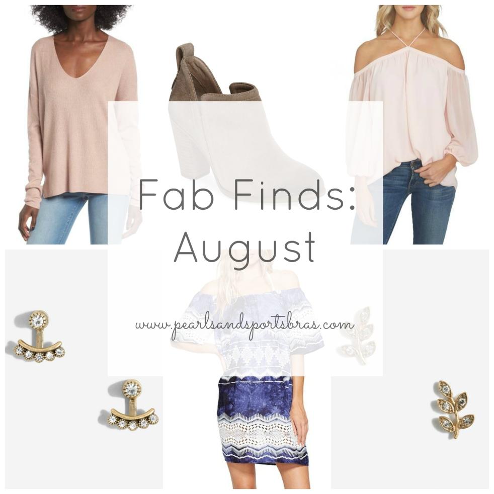 Fab Finds August 2017  www.pearlsandsportsbras.com 