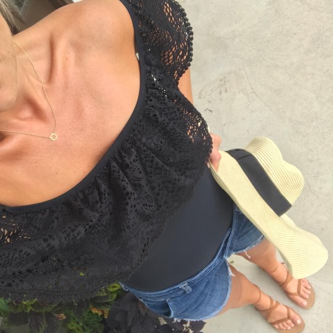 off shoulder swimsuit or cute bodysuit? |www.pearlsandsportsbras.com|