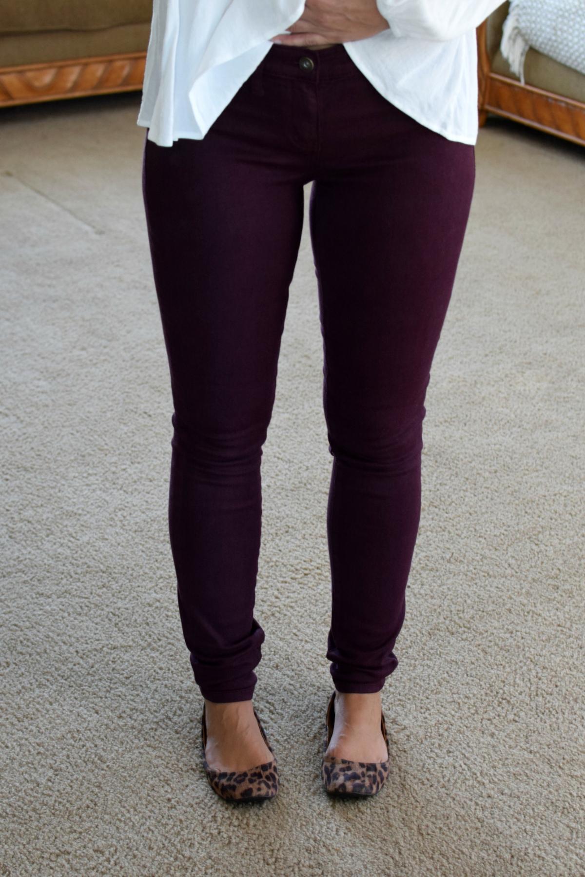 Stitch Fix Review October 2017: Lila Ryan Liza Colored Skinny Jean  www.pearlsandsportsbras.com 