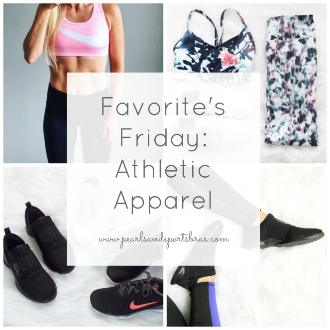 Favorite's Friday: My Favorite Places to Purchase Athletic Apparel |www.pearlsandsportsbras.com|