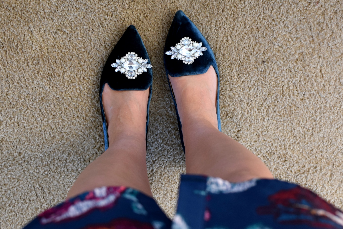 Stitch Fix Review October 2017: Sole Society Libry Velvet Gem Loafer |www.pearlsandsportsbras.com|